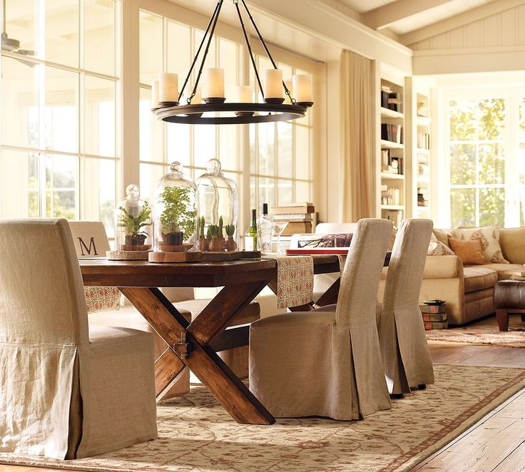 I love this table with those chairs looks cozy for Comfortable dining room ideas