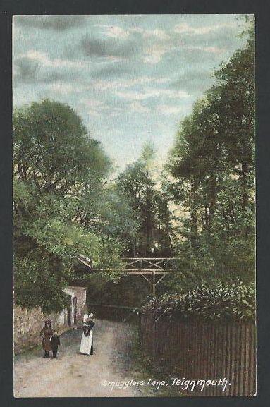 Teignmouth, Smugglers Lane - postcard