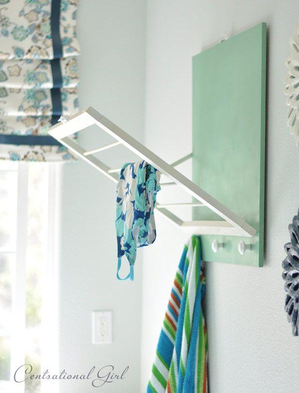 Laundrey room Drying rack. (or maybe kids bathroom)