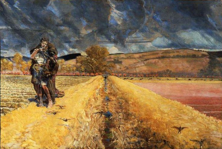"""Jacek Malczewski, """"Święta Agnieszka"""", 1920-1921, olej na desce, 80 x 120 cm, fot. Muzeum Narodowe w Warszawie"""