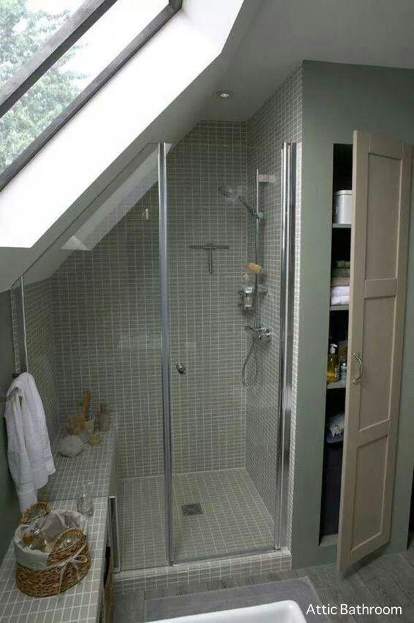 Frameless Hinged Loft Shower Enclosure Notched Over Seat