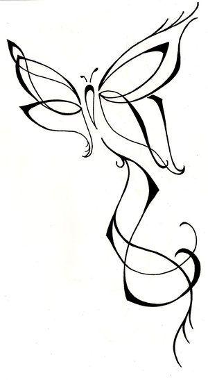 Butterfly tattoo drawing custom design. Back tattoo. Feminine tattoo. Hand drawn www.silverwingsart.com