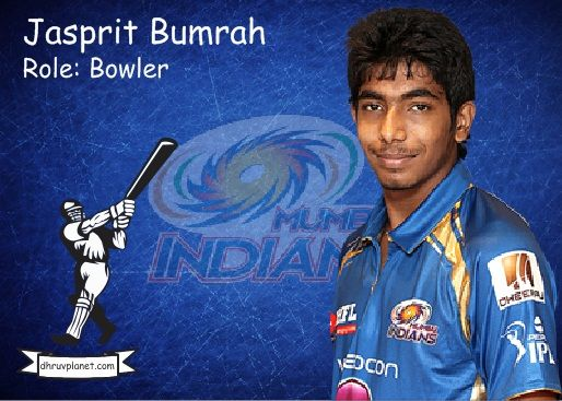 Jasprit Bumrah. Mumbai IndiansTeam Player