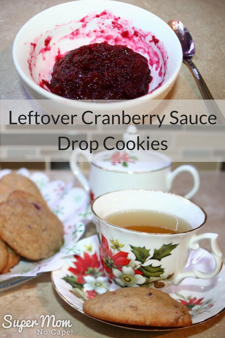 These cake-like Leftover Cranberry Sauce Drop Cookies are just the right combination of sweet and tart. Click through for the recipe! via @susanflemming