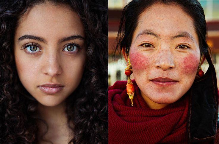 На фото слева: Медельин, Колумбия. На фото справа: Тибетское нагорье, Китай
