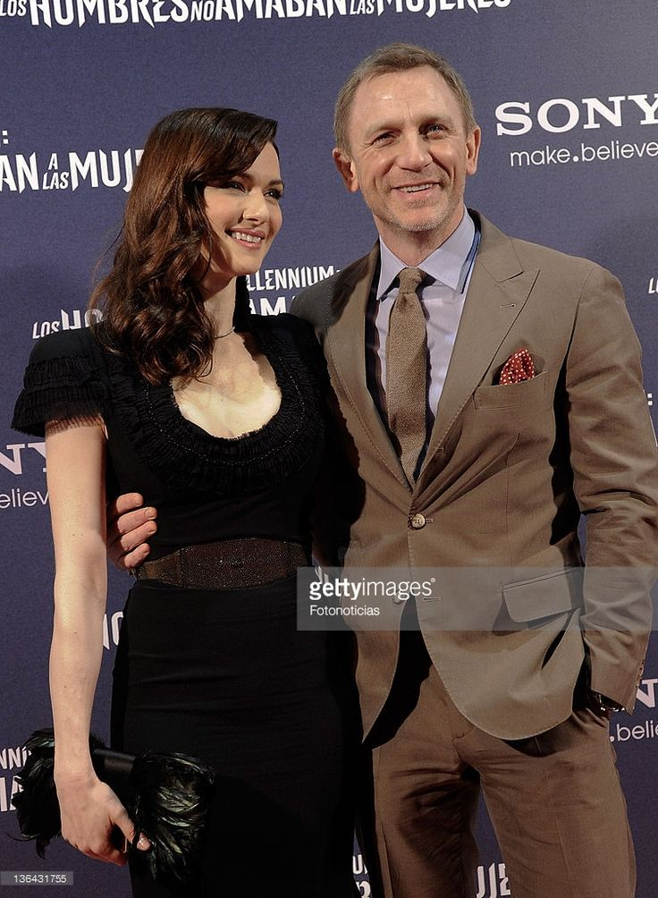 Rachel Weisz (L) and Daniel Craig attend the premiere of 'Millenium: The Girl With the Dragon Tattoo' at Callao CInema on January 4, 2012 in Madrid, Spain.