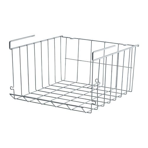 IKEA - OBSERVATÖR, Cesta colgante, Si necesitas más espacio, puedes colgar varios cestos de un estante o apilarlos en una superficie plana.