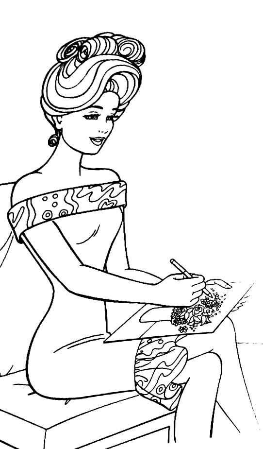 Pin by june H on Art | Barbie coloring pages, Free kids ...