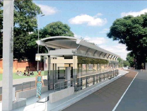 An artist's impression of a Pretoria/Tshwane BRT station. Will any of our Pretoria-based followers be making use of the new BRT system?  Read more on the Galetti Blog! - http://blog.galetti.co.za/2013/11/tshwane-brt-service-launching-shortly/