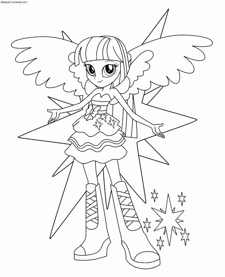 Dibujos+de+personajes+de+My+Little+Pony+Equestria+Girls+para+ ...