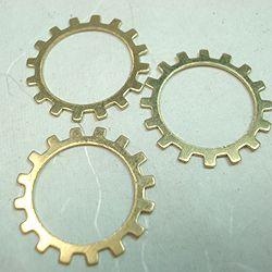 20mm Open Raw Brass Steampunk Gear 20mm Diameter Open Centre Steampunk Gear - Raw Brass.  Price: 1-9 - 85c each Pack of 10 - $6.95 (70c each)