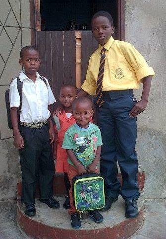 All 4 siblings, Ayanda, Mncedisi, Tusani, Siyabulela are back at shool!