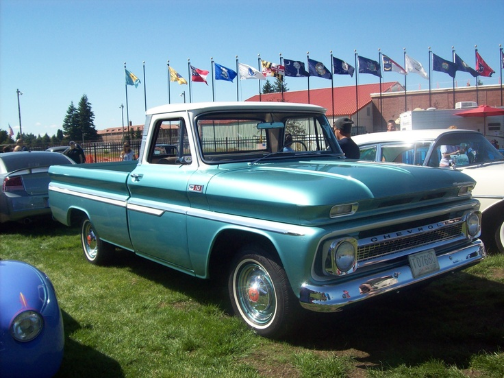 1960 chevy truck in light blue at joint base lewis mccord. Black Bedroom Furniture Sets. Home Design Ideas