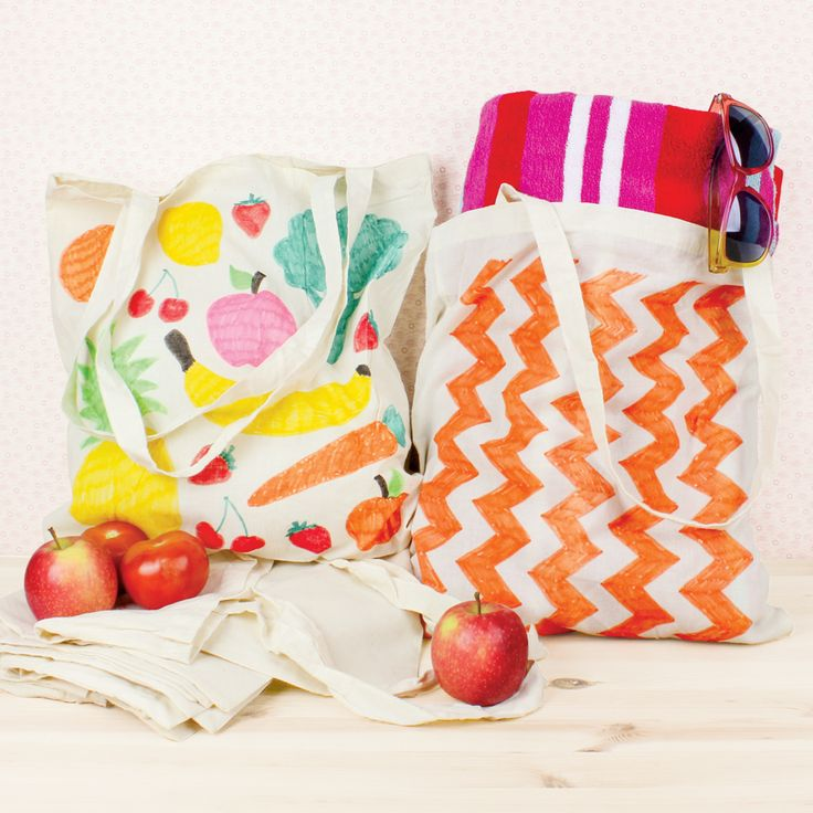 Use some Fabric Markers and create a gorgeous tote bag for Mum!