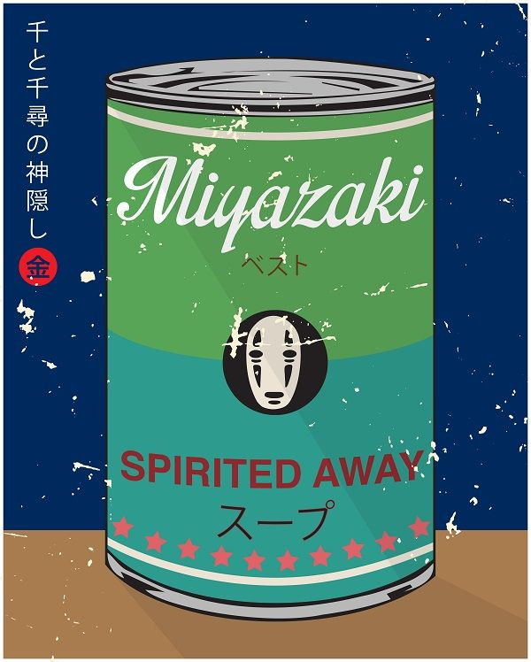 Hayao Miyazaki Movies Brilliantly Reimagined As Warhol's Signature Soup Cans - DesignTAXI.com