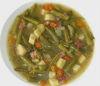 Gruene Bohnensuppe - Green Bean Soup (served on Gruendonnerstag - Maundy Thursday, the Thursday before Easter).