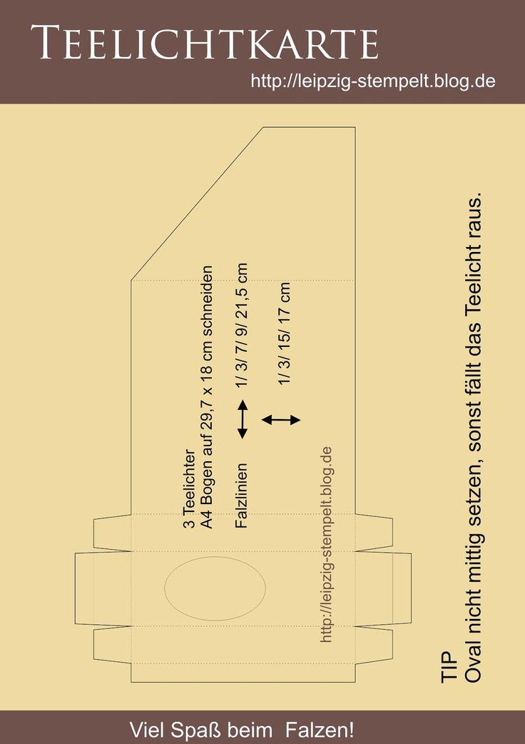 Leipzig stempelt - mit Stampin' Up!®: Teelichtkarte mit Anleitung