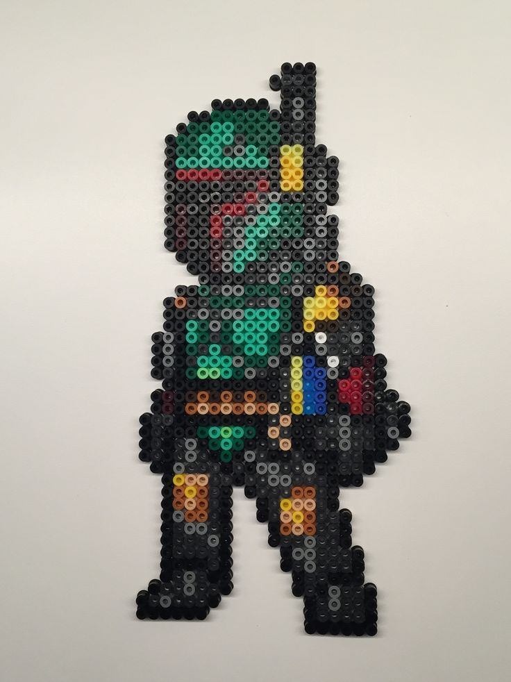 Perler beads gets funnier with Star Wars theme. Boba Fett