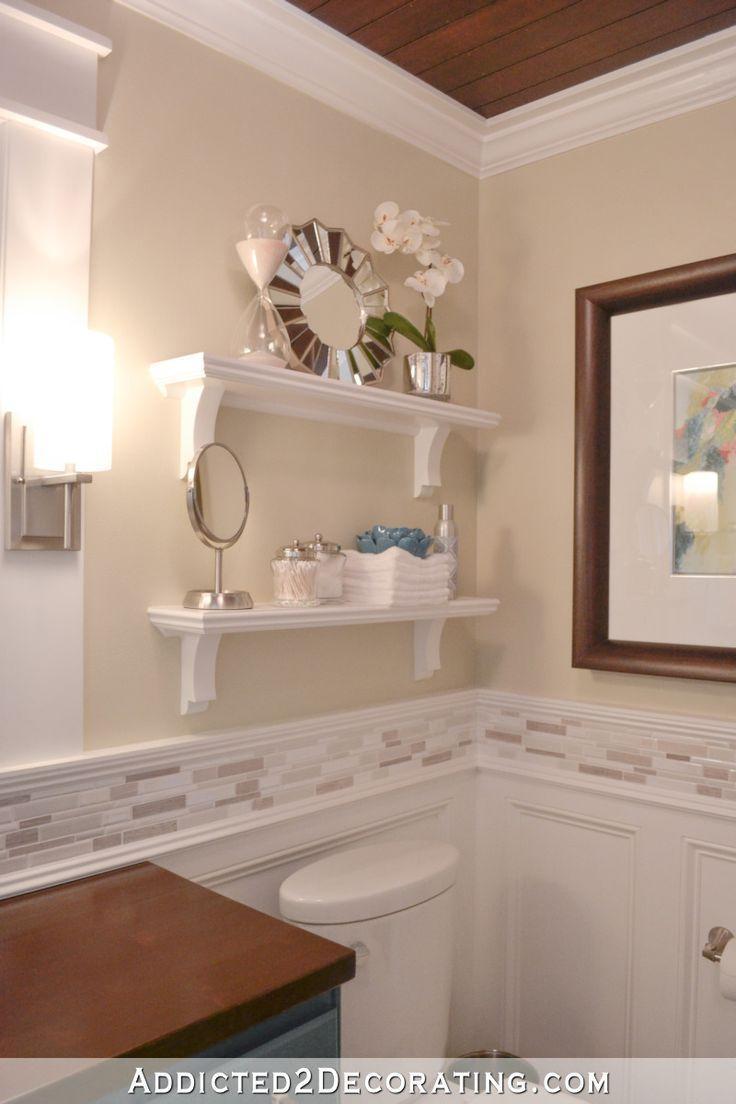 DIY bathroom shelve above toilet    small bathroom ideas  #bathroom #Diy #Idea   – Bathroom Shelving