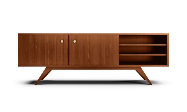 Auden mid century modern Credenza in Medium wood stain by Joybird  This one, oh god oh god oh god please let me win the lottery.