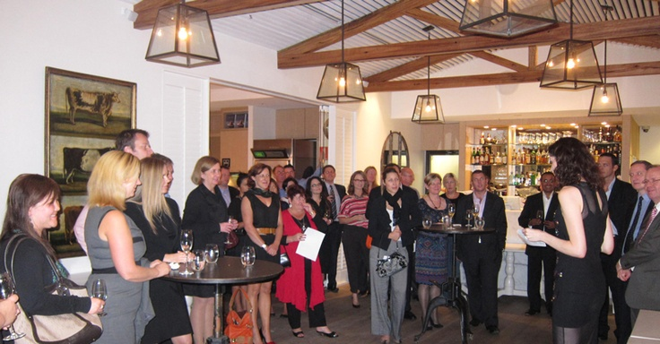 Addressing the foodie crowd at the Wine Circle Launch.