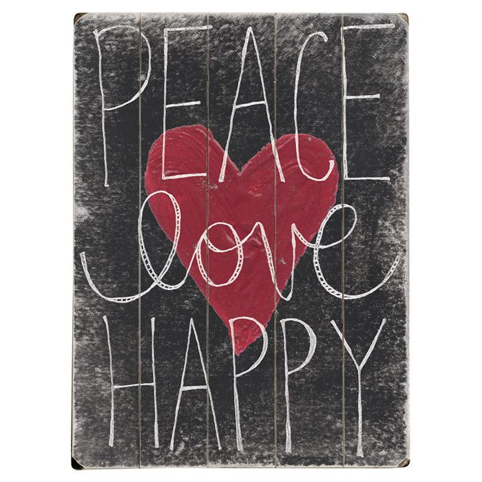 Peace Love Happy Wall Decor
