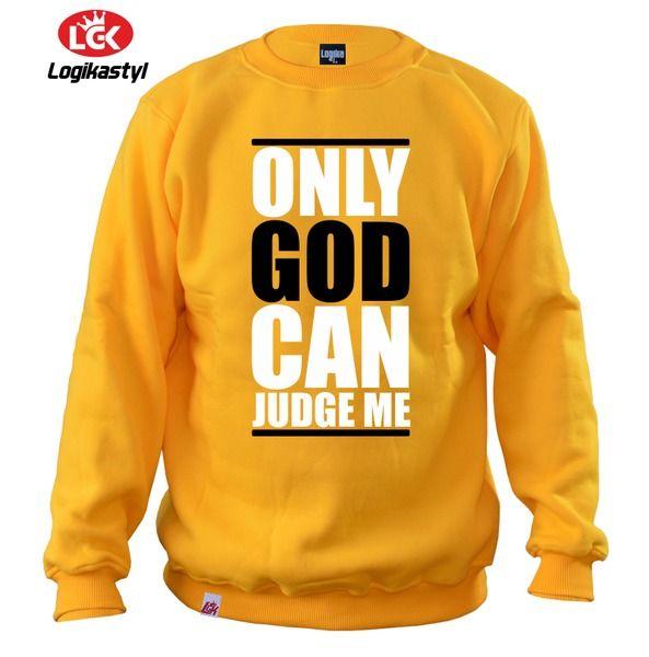 Bluza ONLY GOD CAN JUDGE ME! w LOGIKA na DaWanda.com