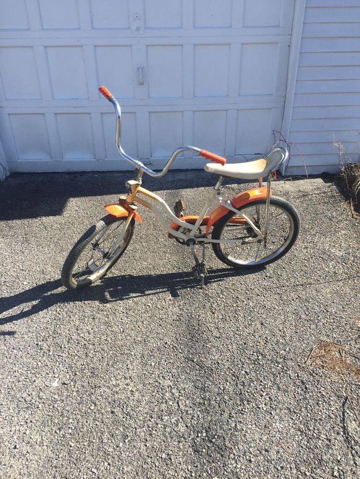 Vintage 1970s Cactus Rose Banana Seat Bicycle Bike Huffy W/ Fenders #Huffy