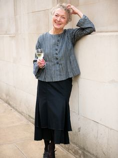 This company  makes clothes for older women that are stylish, feminine, dignified, and fun! They can also influence  thrift store finding.