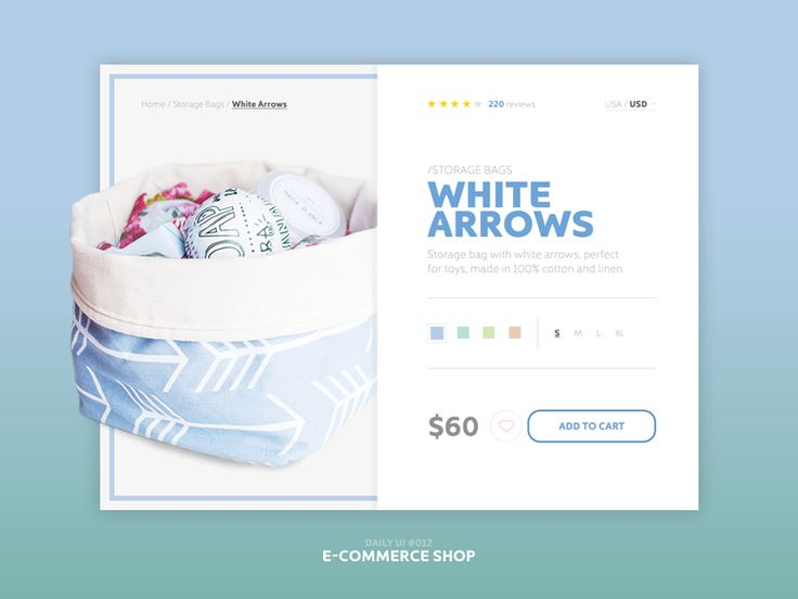 Daily UI - 012 - E-Commerce Shop