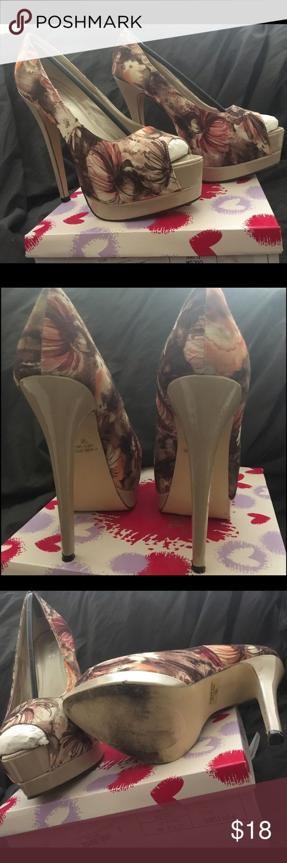 Floral Peep Toe Pump size 10 Floral Peep Toe Pump by Pinky footwear; size 10; gently worn Shoes Heels