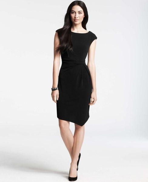 Petite Side Twist Asymmetric Wrap DressWrap Dresses, Side Twists, Black Dresses, Twists Asymmetrical, Rehearal Dinner Dresses, Petite Side, Asymmetrical Wraps, Wraps Dresses, Anne Taylors