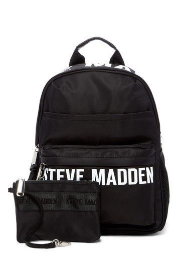 Backpacks are my favorite right now and this black nylon Steve Madden  backpack is super cute c190e64da7e65