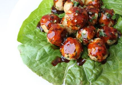 Southwest Turkey Meatballs With Creamy Cilantro Dipping ...