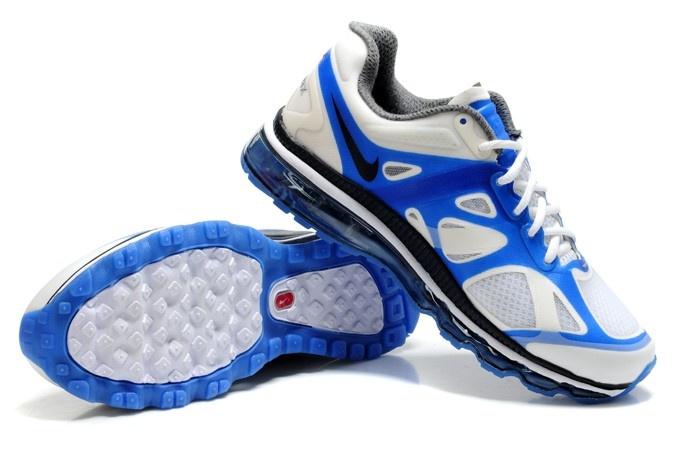 Nike Air Max 2012 White Blue Grey Men [Nike Air Max 2012 009] -