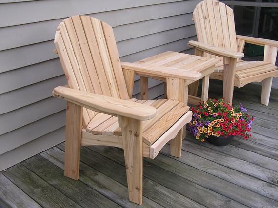 Chaise de jardin Adirondack – Menuiserie