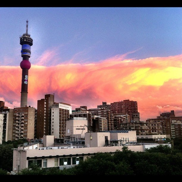 Johannesburg's amazing skyline. Just one of the breathtaking views of this amazing city.