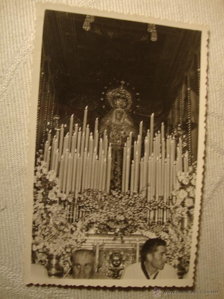 ANTIGUA FOTOGRAFIA TRONO PASO SANTISIMA VIRGEN DE LA MACARENA FOTO. M. COTAN SEVILLA 1954