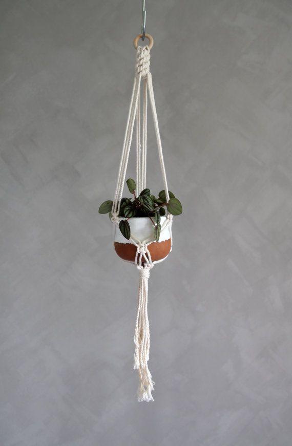"Macrame Plant Hanger ""Hannah"" by ByHelgaM on Etsy / Mini Macrame / Makramé / Macramee / Mini Plant Hanger / Handmade / Planthanger / Boho Macrame / Miniplanter / Boho Decor / Makrame Deco / Macrame Mini Planthanger"
