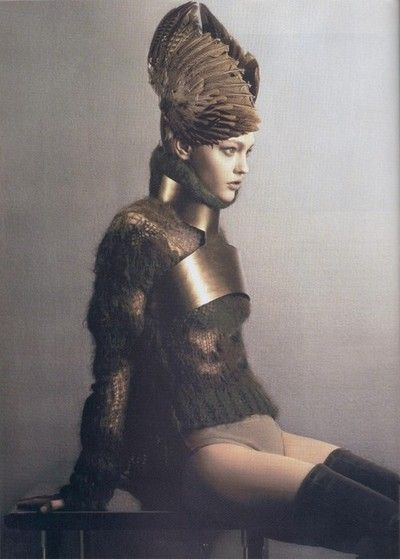 """Alcyon""  Sasha Pivovarova by Mark Segal Vogue Paris  June 2006n #editorial"