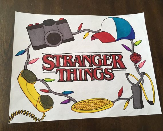 Stranger Issues artwork bundle – eight Authentic Drawings and Set of 5 Bookmarks
