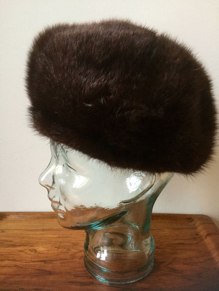Vintage fur hat /vintage/fur/soft /lined/ladies/winter hat/great shape/Swedish/Scandinavian by WifinpoofVintage on Etsy