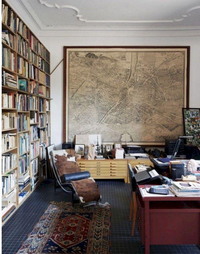 Easy Vintage Home Office Room Ideas Decoration Vintage Home Offices Home Office Decor Vintage Office Decor