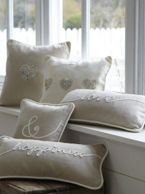 pillows - lovely way to make words