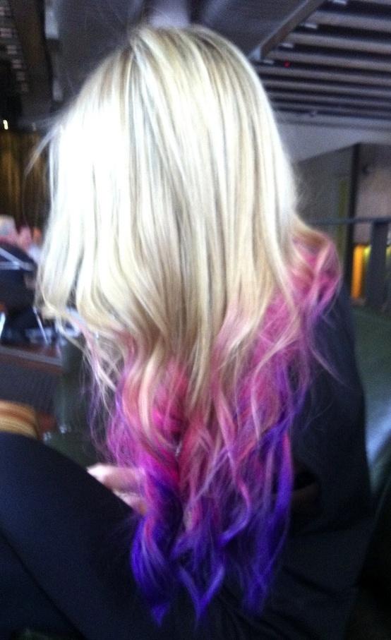 Venus Loves Virgo: TREND: Dip Dyed Hair Tips + An Easy DIY Ponytail Trick. Love this