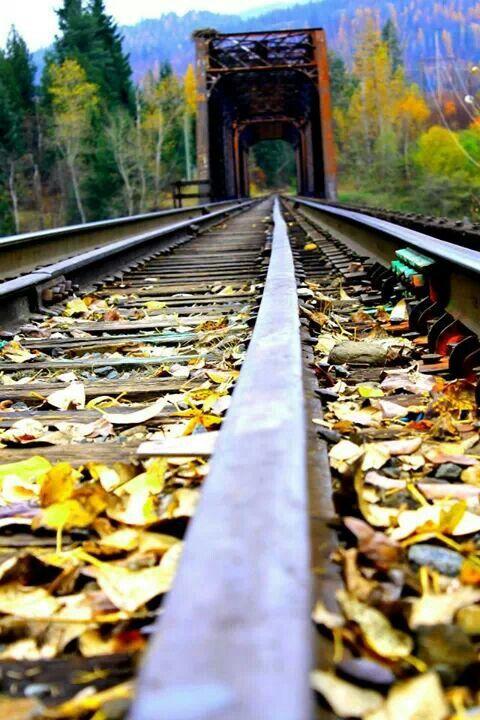Castlegar, BC Fall on the Train Bridge