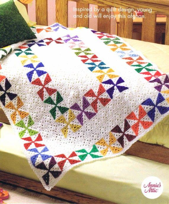 Spinning Scraps Afghan Crochet Pattern Annies Scrap Crochet Club