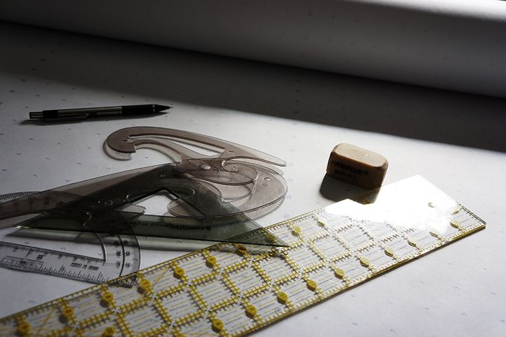 Patternmaking day...  Yup, I still use the old-school tools of rulers, French curves, pencil and paper.