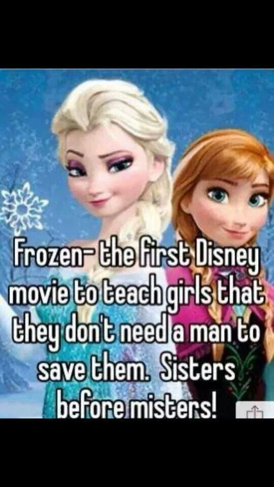 Hmm... What about brave? Mulan? Tiana? Also most Disney movies show strong female characters! (PS: imma mention brave just one more time to RESTATE that she didn't need a man, in fact the whole movie she disapproved of getting married, and fought for independence! So suck it!:))