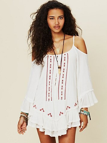 Free People FP ONE Embroidered Flamenco Dress